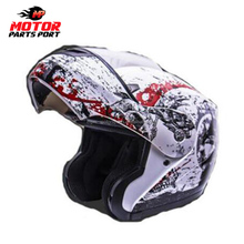 Wholesale DOT Flip up Helmet ABS material dual visor