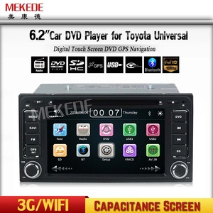 FACTORY Car dvd radio system with Wince 6.0 MTK with GPS Navigation Radio DVD WIFI 3g for Toyota universal Auto Radio Car DVD