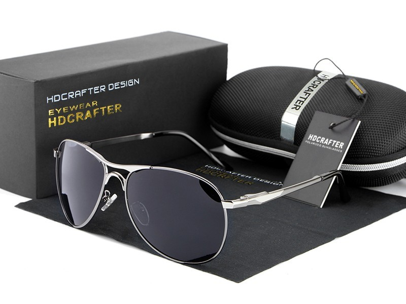 HDCRAFTER Fashion Polarized Outdoor UV400 Brand Designer Sun Glasses for Men