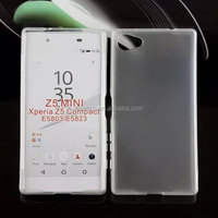 Mobile accessories Matte Skin Pudding Gel TPU Cover case for sony xperia z5 compact made in china