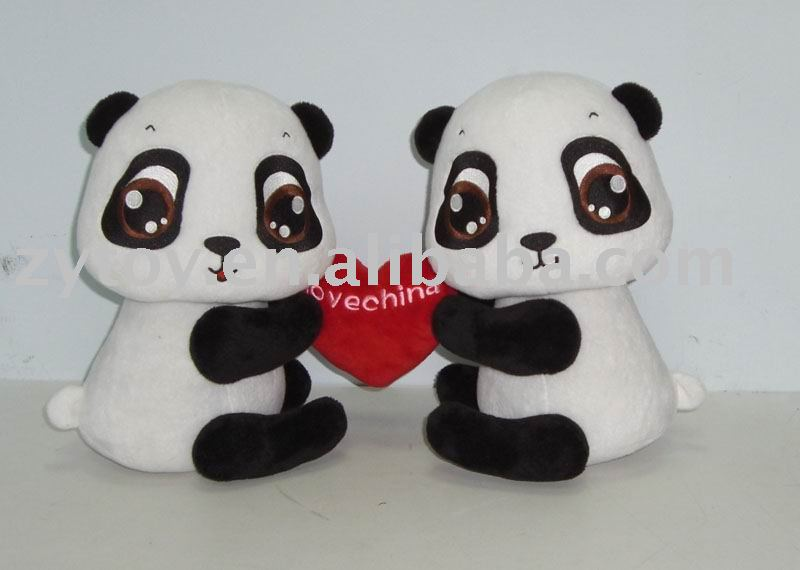 plush toy of China promotion valentine animal panda gifts
