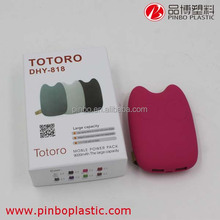 power bank case for phone,Lovely toroto design high quality power bank, super capacitor grade Lithium battery cute power bank