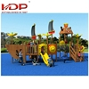 Cheap price heavy duty wooden equipment, playground set with slide