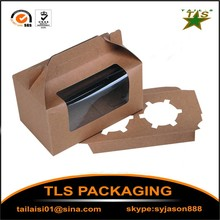 High quality Kraft paper cupcake boxes