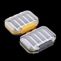 4.3 x 2.75 x1.2 Plastic Waterproof fly fishing Double Side Clear Slit Foam fly Fishing Box FLY BOX Tackle Case Box