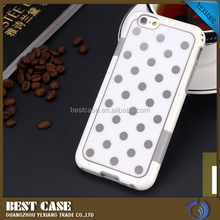 Fashionable Acrylic Polka Dot Case For Samsung Galaxy Note 4, Contrast Color Case For Samsung Note 4