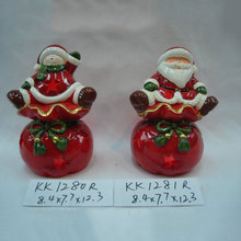 ceramic xmas apple santa claus on hat headgear Christmas decoration