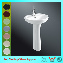 New design ceramic pedestal wash sink bathroom basin