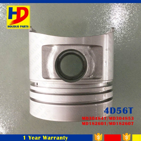Diesel Engine Parts For 4D56T Piston MD304847 MD304853 MD182601 MD182607