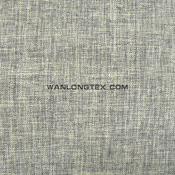 ultra wide 100% polyester linen look fabric