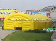 Big yellow inflatable tennis court tent with high quality