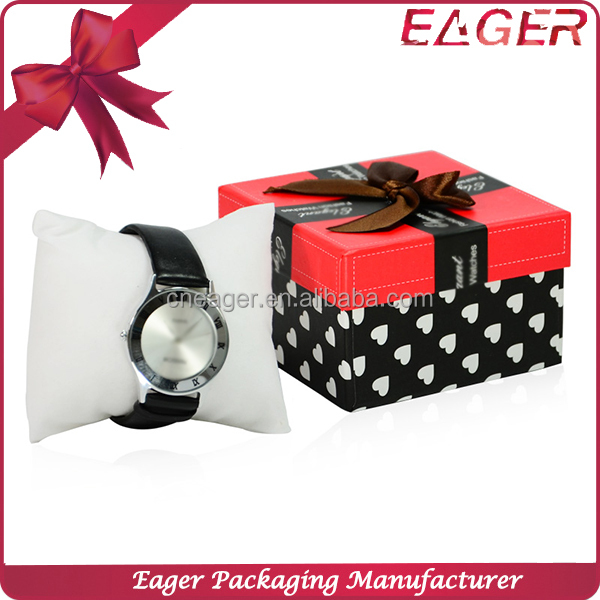 Best quality wrist watch box packaging, low price paper box for watch