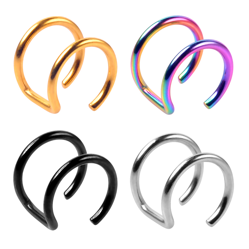 Stainless steel ear clip and ear cuff non piercing body jewelry