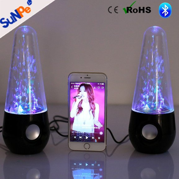 Wholesale Wireless Hifi Stereo Bluetooth Water Dancing Subwoofer Speakers With Color lights For Laptop Computers
