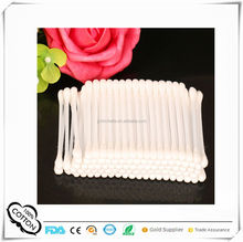 100pcs functional colored Cotton swabs in plastic Tube for beauty personal care