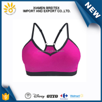 2016 Year Fashion Hot Style bonded V neck sport bra for women