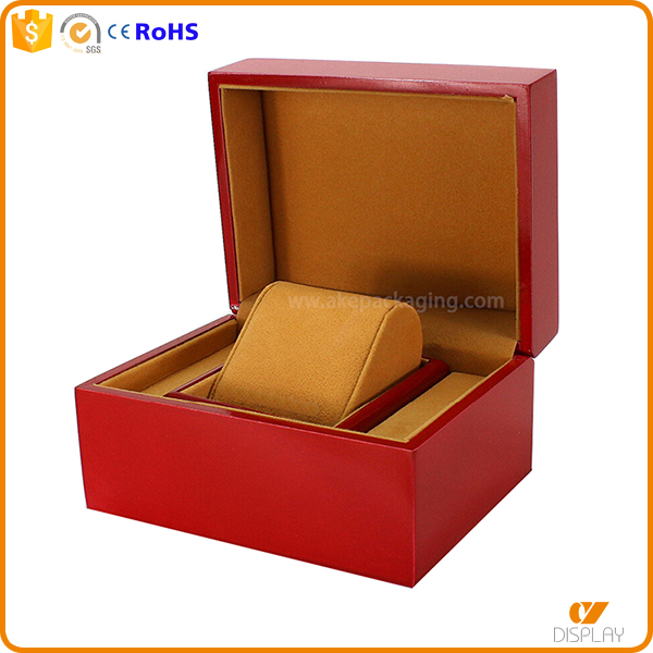 custom design manufacturer fashional watch box paper with pilow with pillow