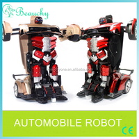 2016 New design car transform robot toys, high sensitivity transformable robot toy, electricity transform robot toys