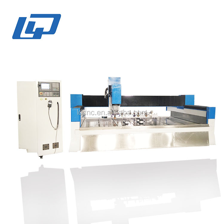 Stone Cutting Polishing Machining Center , 3D ATC CNC Router For Stone Processing