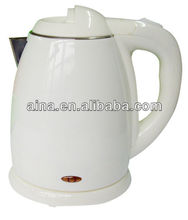 1.2L white double wall water kettle