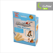 insole paper box packaging with hanger