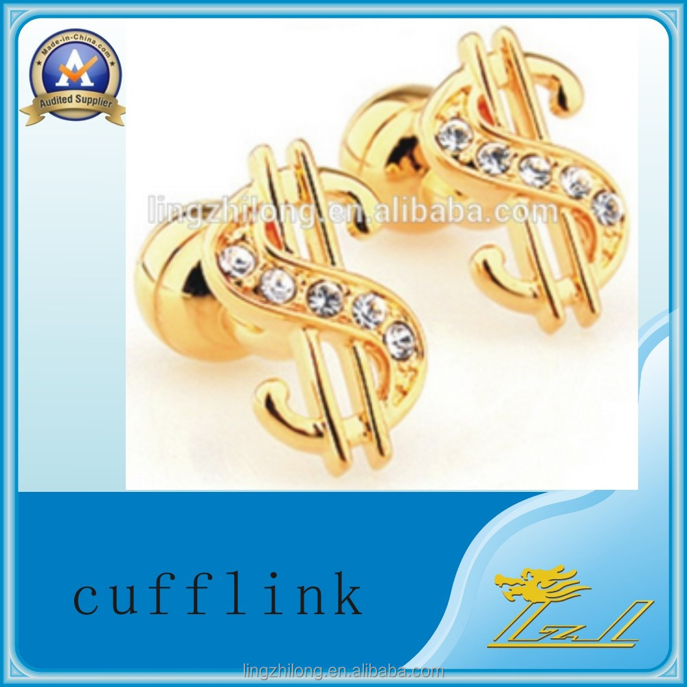 Hot new products gold plated swank value metal cufflinks