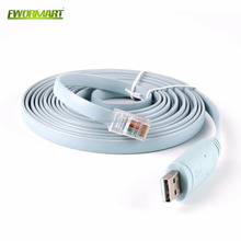 12FT FTDI USB to serial RS232 RJ45 console rollover cable for Cisco routers
