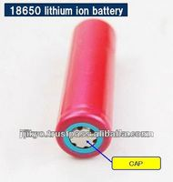 Metal cap 18650 battery for lithium ion parts