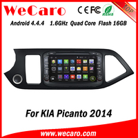 "Wecaro WC-KP8057 8"" Android 4.4.4 WIFI 3G touch screen car dvd player gps navigation system for kia picanto car radio 2014"