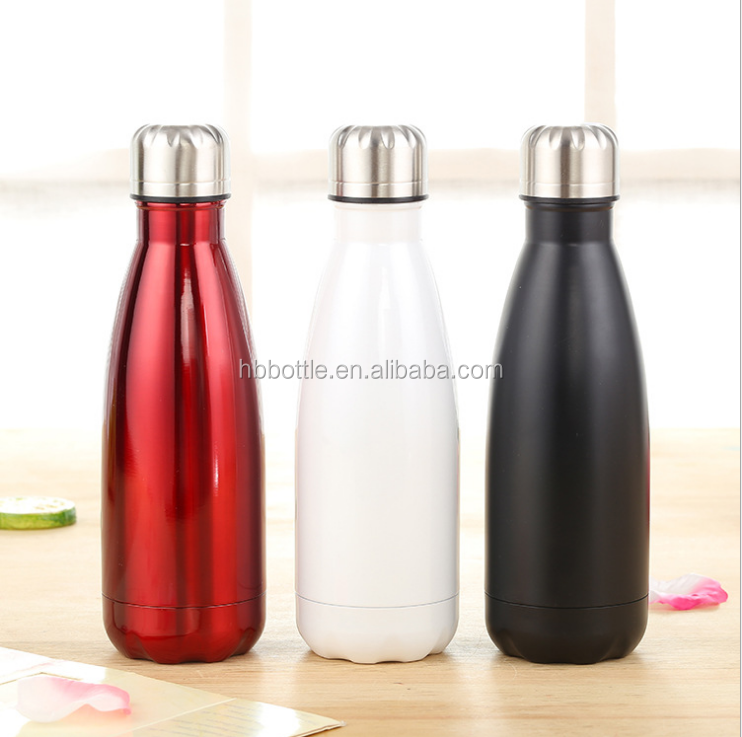 304 SS double wall insulated custom bottle coke bottle shape swell water bottle for sport
