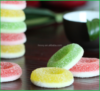 Assorted Fruit Flavor Double Color Sweets Circle Ring Gummy Jelly Candy