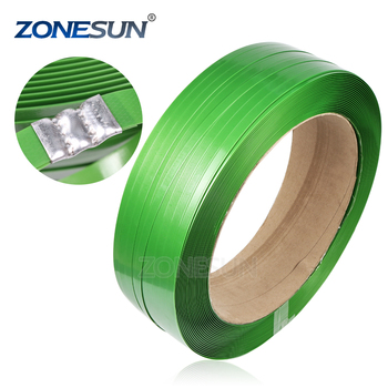 ZONESUN 25mm polyester strapping belt plastic packing band for stainless coile bale supply