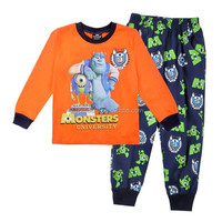 Excellent quality crazy selling Monster University boys sleepwear petelulu baby pajamas cotton long sleeve set for kids