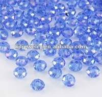 Wholesale!! Latest!! Fashion Med.Sapphire 5040 Briolette Bead Crystal Faceted Glass Bead 4mm