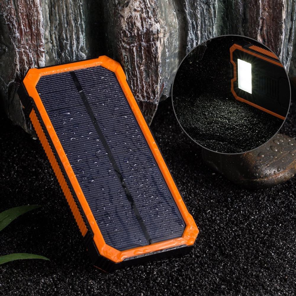 2017 banco de la energ a solar 8000 mah impermeable. Black Bedroom Furniture Sets. Home Design Ideas