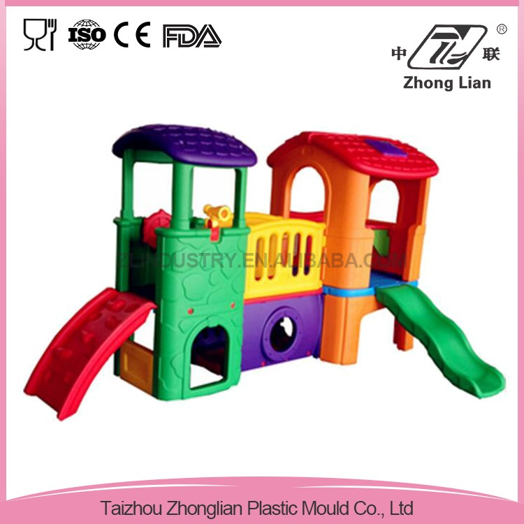 Plastic colorful cheap stable preschool outdoor kids playground equipment