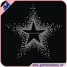 Bling Gradient star rhinestone iron on transfer crystal round shape