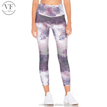 Hot sale high waist basic printed yoga pants leggings for women