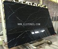 A quality Black Marquina marble slabs China Foshan factory price