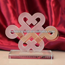 Custom Made Electronic Communications Group Crystal Cutout Trophy Award