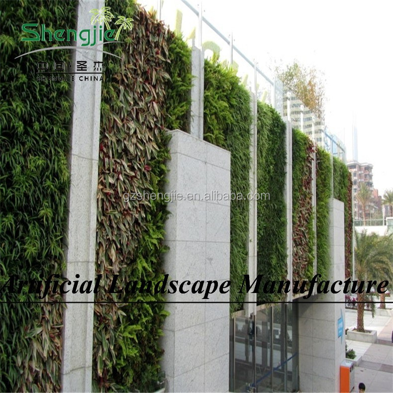 Artificial plant type and fabric,plastic,PE,PU material plastic green wall