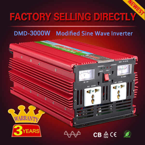 High quality modified sine wave 3000w power master inverter 12v 24V 220v off grid for solar home panel