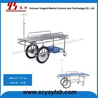 Manufacturer Stainless Steel Steel Patient Transport Stretcher Trolley/Cart