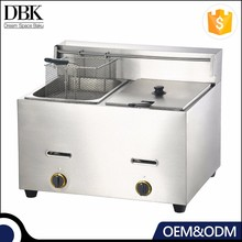 2 TanK Double Basket Commercial Gas Automatic Deep Fryer for fried chicken