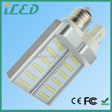CE ROHS LVD EMC listed SMD2835 180 degree 6 watts Warm white 3000k led lamp G24q