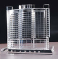 ornament crystal building model for office decoration