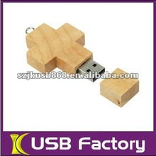 Gift Natural Wooden christian usb flash drive