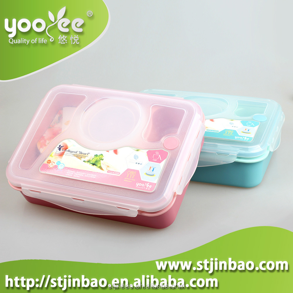 High Quality Lunch Box Container for Food 4-compartment Bento Box Soup Bowl