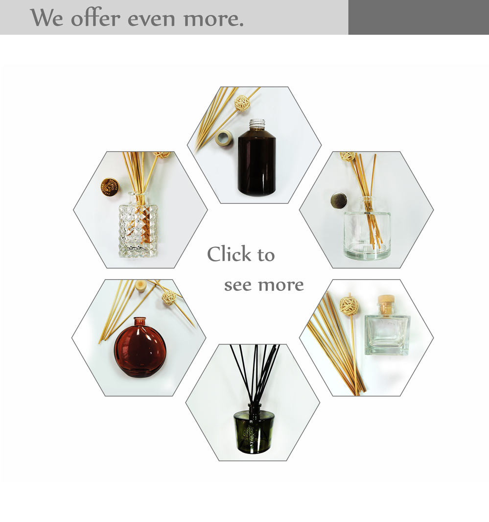 Wholesale exquisite bulk europe style aluminium screw cap glass reed diffuser bottle