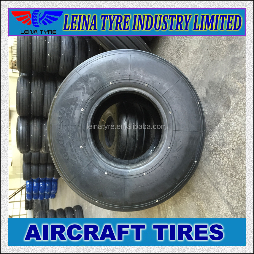 Tubeless tube tyre TT TL slick aircraft tires 1030x350 680x260 smooth airplane tyres with rib pattern for application SU-27